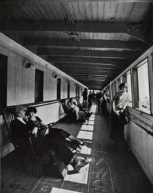 Passengers Relaxing on Deck.