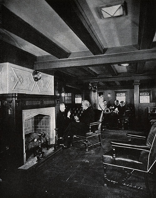 View of the Smoking Room.