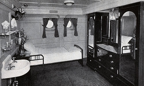 A Characteristic Stateroom on President Liners.