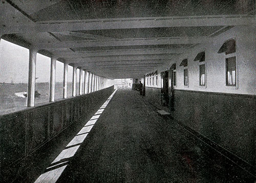 One of the Saloon Promenade Decks on the SS New England.