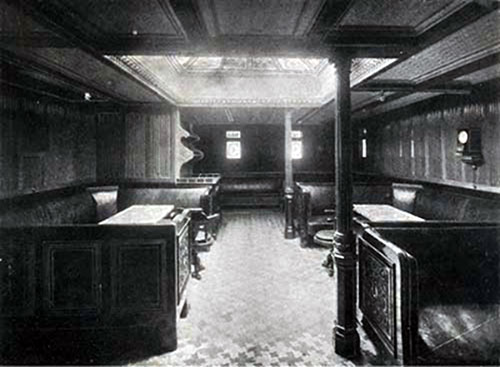 First Cabin Smoking Room on the SS New England.