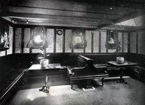 Second Cabin Ladies' Room on the SS New England.