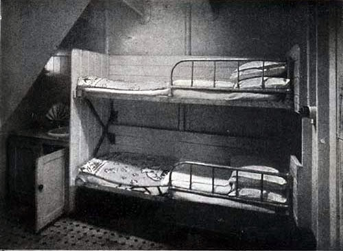 Third Class Bedroom with Two Berths on the SS New England.