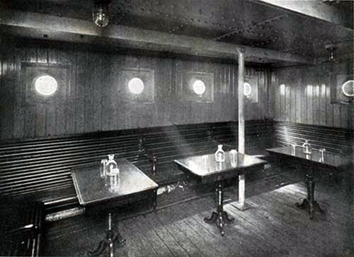 Third Class Smoking Room on the SS New England.