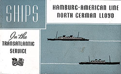 Front Cover of 1937 Brochure from the Hamburg-American and North German Lloyd on their Transatlantic Ships.