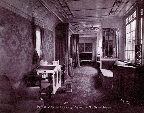 Partial View - Drawing Room - S.S. Deutschland