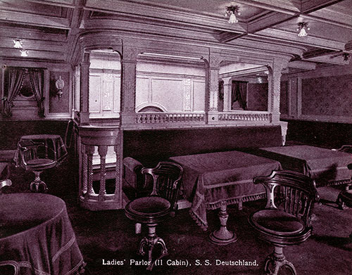 Ladies' Parlor, Second Cabin - SS Deutschland