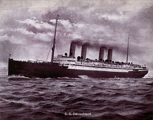 The SS Deutschland of the Hamburg-American Line