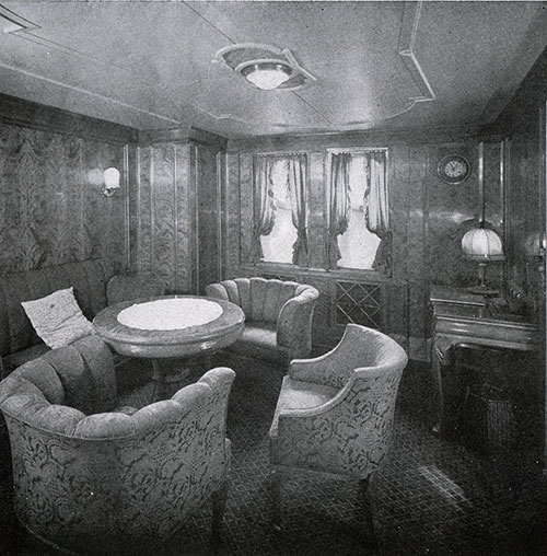 Drawing Room of a First Class Suite