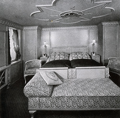 Bedroom of a First Class Suite
