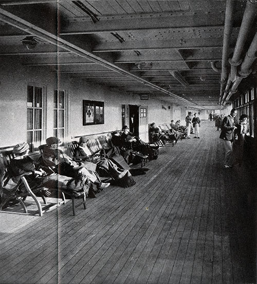 Passenger Relaxing on the Promenade Deck - Resolute and Reliance.