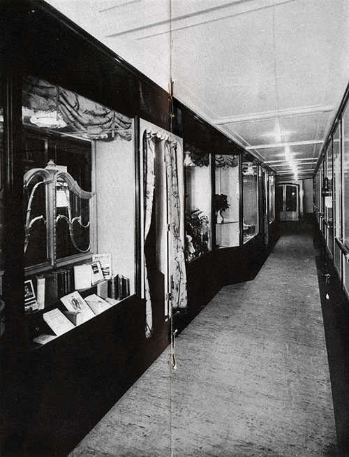 Shopping Promenade on the SS New York.