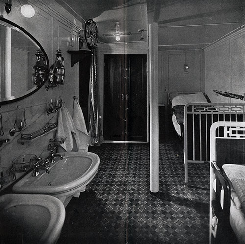 Another Type of First Class Stateroom -- With Every Convenience.