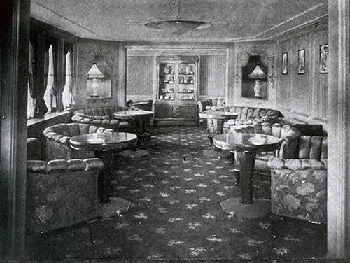 First Class Ladies' Parlor on the SS Deutschland.