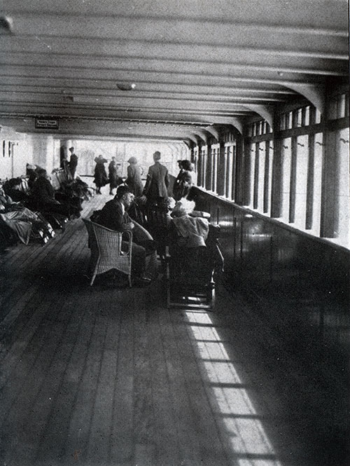 Passengers Relax on the Promenade Deck.
