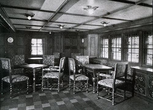 Second Cabin Social Hall on the SS Deutschland.