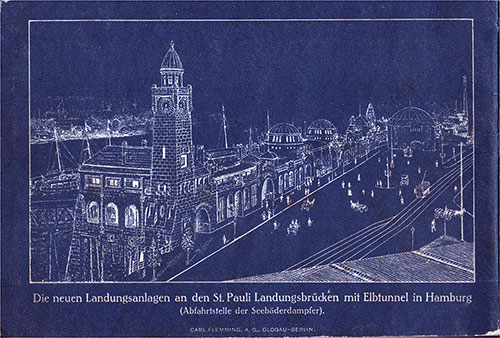 On the Back Cover: The new landing facilities at the St. Pauli Landungsbrücken with Elbtunnel in Hamburg.