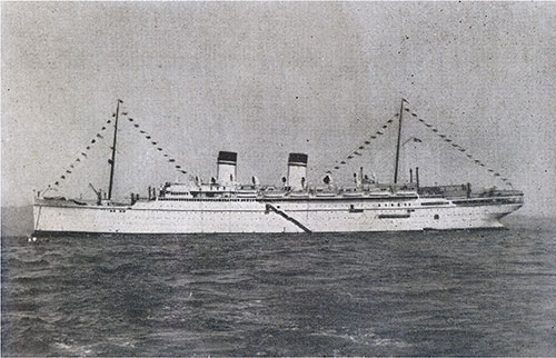 SS Roma of the Italian Line. Gross Tonnage 32,583.