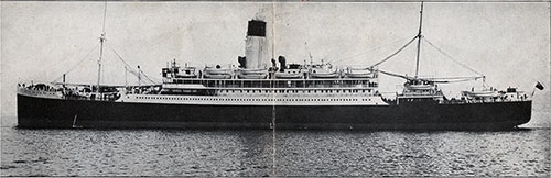 The Lamport & Holt Line Steamer SS Vandyck Leaving New York.