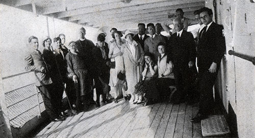 Group of Passengers on the Deck.