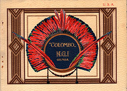 Front Cover, 1925 Brochure From NGI Italian Line Covering the SS Colombo, a Cabin-Class Ship.