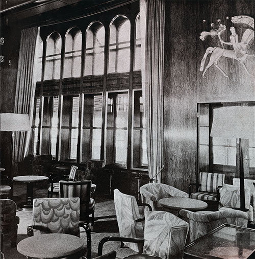 Corner of the First Class Lounge.