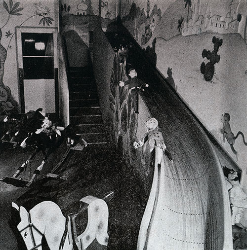 The First Class Children's Playroom on the SS Bremen.