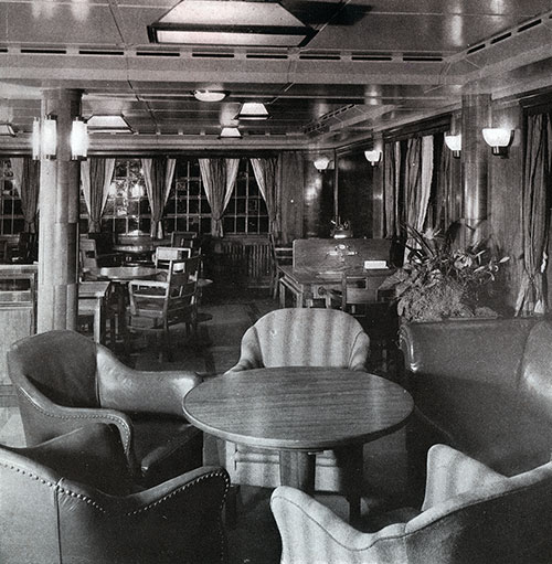 Corner of the Second Class Smoking Room on the SS Bremen.