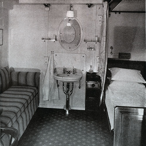 Second Class Stateroom on the SS Bremen.