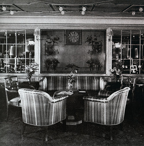 A Corner of the Second Class Ladies' Lounge on the SS Bremen.