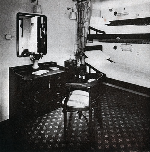 Second Class Two-Berth Stateroom on the SS Bremen.
