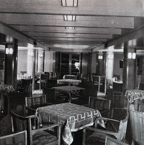 Another View of the Tourist Third Cabin Ladies' Lounge on the SS Bremen.