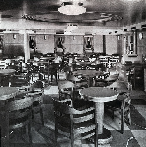 Third Class Smoking Room on the SS Bremen.