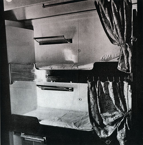 Third Class Stateroom on the SS Bremen.