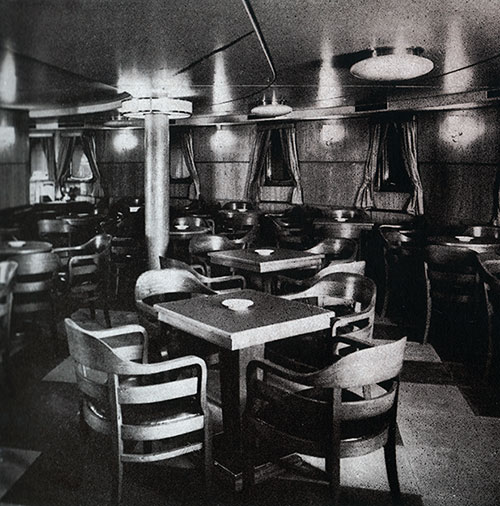 Third Clas Smoking Room on the SS Bremen.