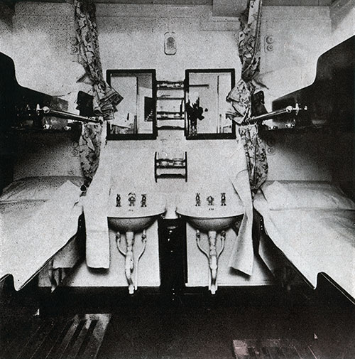 Third Class Four-Berth Stateroom on the SS Bremen.