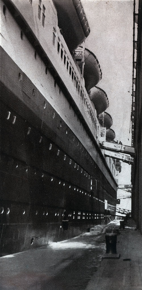 The SS Bremen Docked at Bremerhaven, Germany.