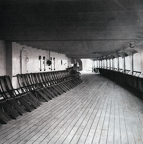A Section of the Tourist Third Cabin Deck on the SS Bremen.