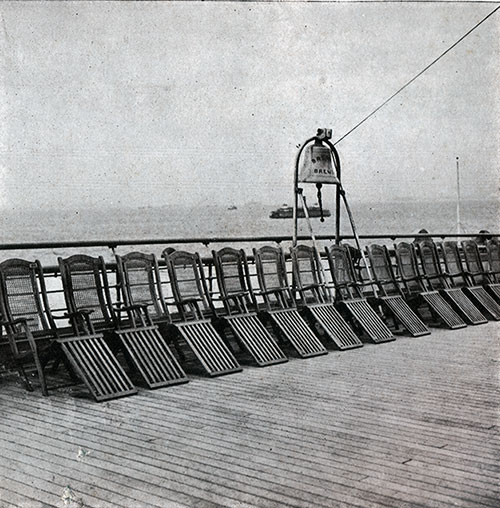 A Section of the Second Class Deck on the SS Bremen.