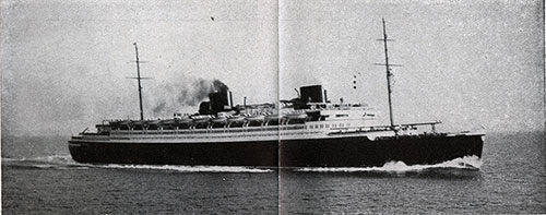 The SS Bremen of the North German Lloyd.