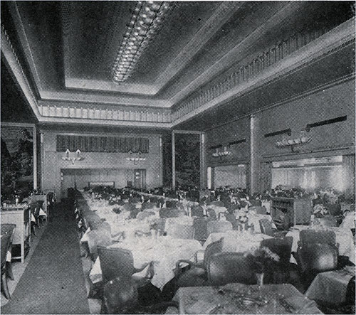 First Class Dining Room.