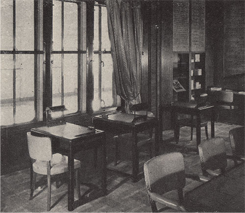 First Class Writing Room.