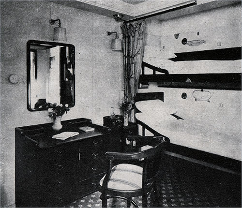 Second Class Two-Berth Stateroom.