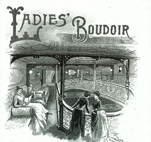 Women Can Relax and Socialize in the Ladies' Boudoir.