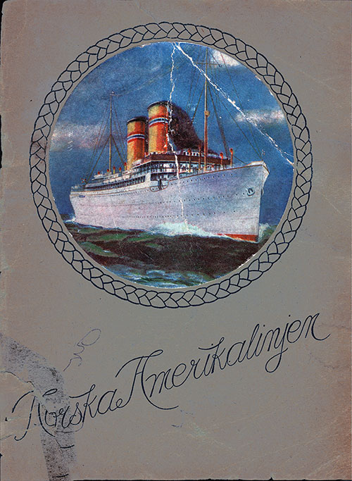 Front Cover, 1915 Brochure from the Norwegian America Line