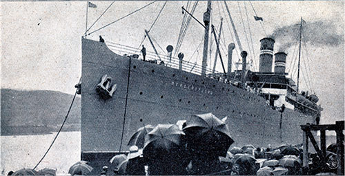 Departure of the SS Bergensfjrod from Kristiania (Oslo).