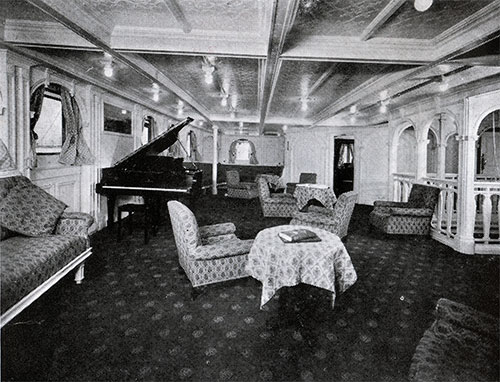 SS Bergensfjord Music Room.