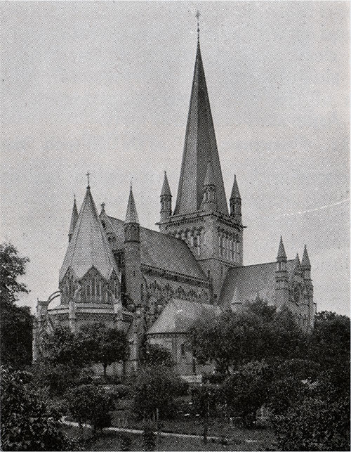 Trondhjem Cathedral. Photo by Snyder.