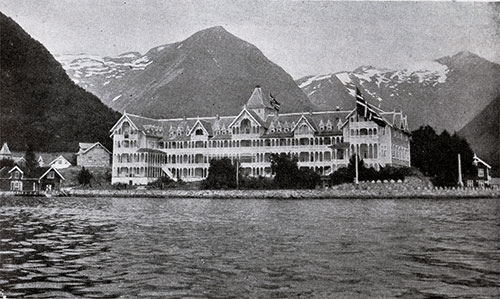 The Famous Balestrand Hotel in Blaestrand, By the Sognefjord.