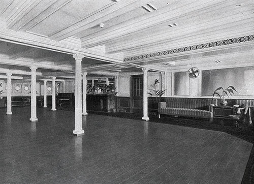 Ballroom on the Orduña and Orbita. Designed for Gaiety.